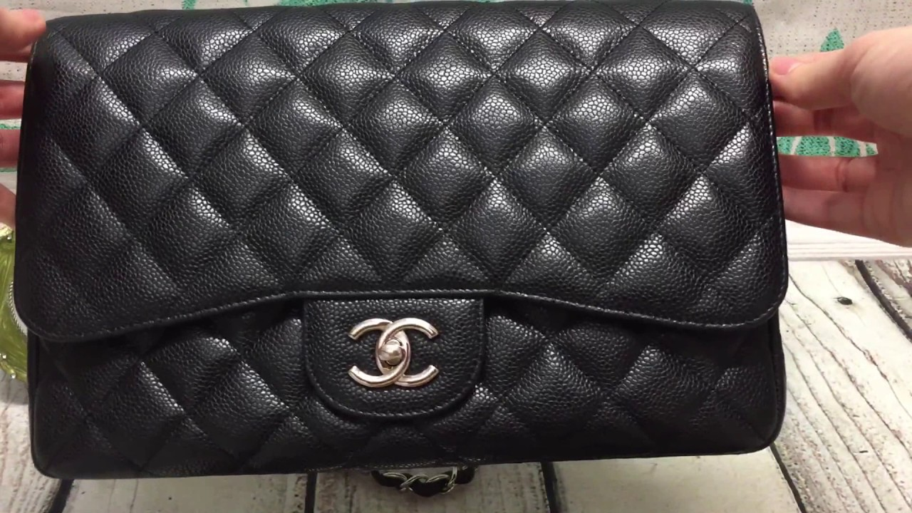 b5b7a4a76f08 Chanel black caviar jumbo single flap  SOLD  - YouTube