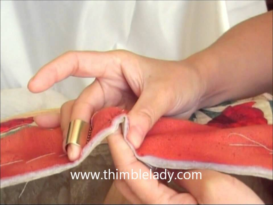 hand quilting with a difference! - YouTube : hand quilting thimbles - Adamdwight.com