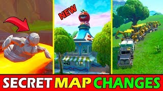 "*NEW* FORTNITE SECRET MAP CHANGES ""LOOT LAKE DIG SITE"" + ""STONE STATUE STORY"" STORYLINE SEASON 8"