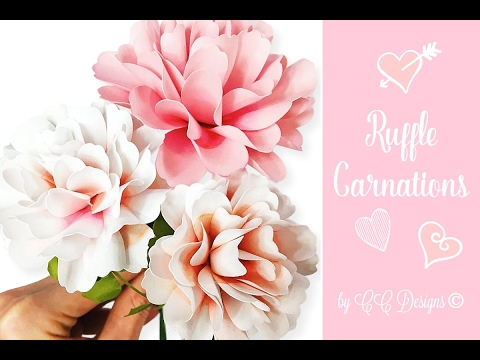 Carnation Paper Flower   How To DIY Flowers   YouTube Carnation Paper Flower   How To DIY Flowers