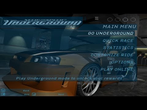Need for Speed: Underground 2003 - main menu | ''Get low'' [ULTRA HD]