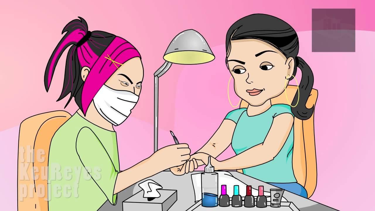 Anjelah Johnson Nail Salon Animated Cartoon Youtube