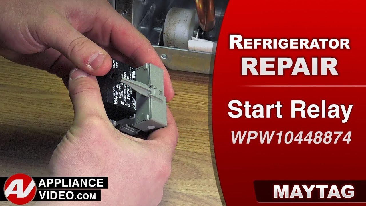 Maytag Whirlpool Refrigerator Not Cooling Start Relay And Capacitor Diagnostic Repair Youtube