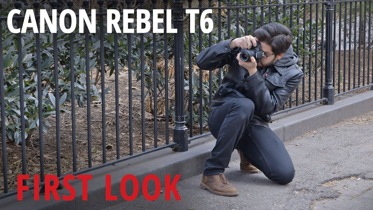 New Canon T6 Updates the Bottom End of the Rebel DSLR Camera