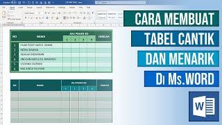 Cara Membuat Tabel yang Cantik Menarik di Microsoft Word