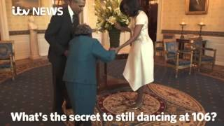 106-year-old meets Obama, breaks out the dance moves