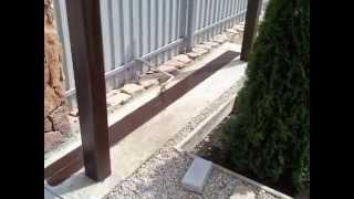 Откатные ворота: заливка фундамента