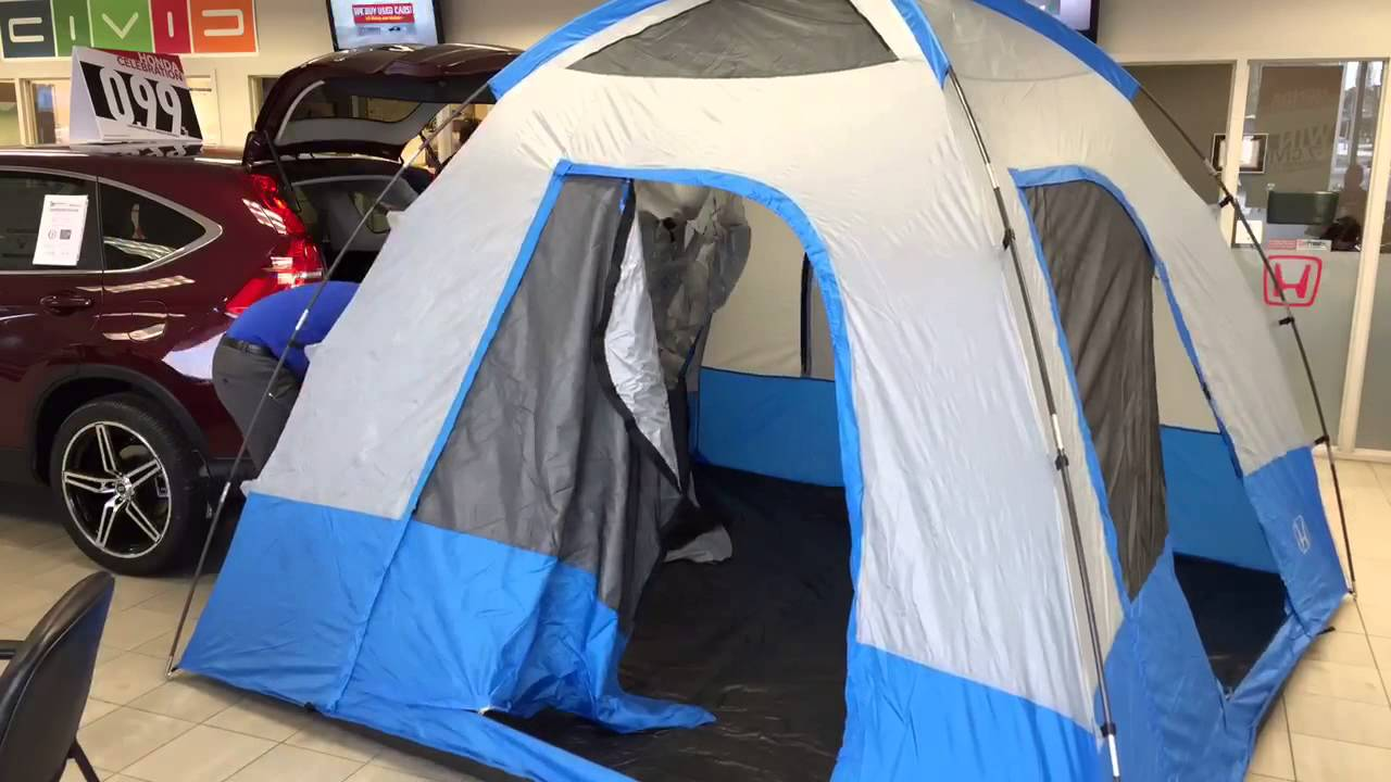 Setting up a Honda tent on a new 2015 Honda CR-V at Westgate Honda - YouTube & Setting up a Honda tent on a new 2015 Honda CR-V at Westgate Honda ...