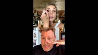 Maquillage smokey du jour Pour une sortie sous un masque ☺️ : Fond de teint crème, poudre hd, sur les yeux : marrakech sur paupières mobiles, wadirum ...