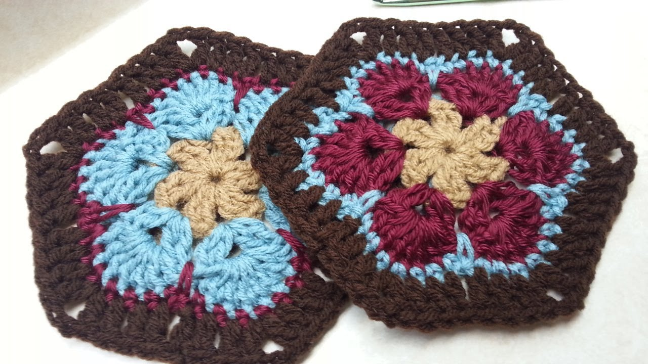 How do you crochet a hexagon square?