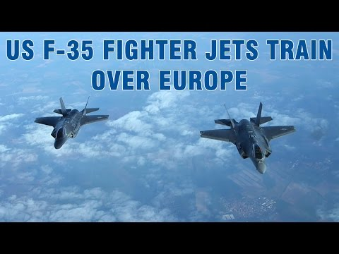 US F35 fighter jets training in Europe