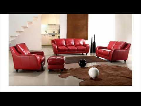 VIG Divani Casa Bremen Red Full Leather Sofa Set