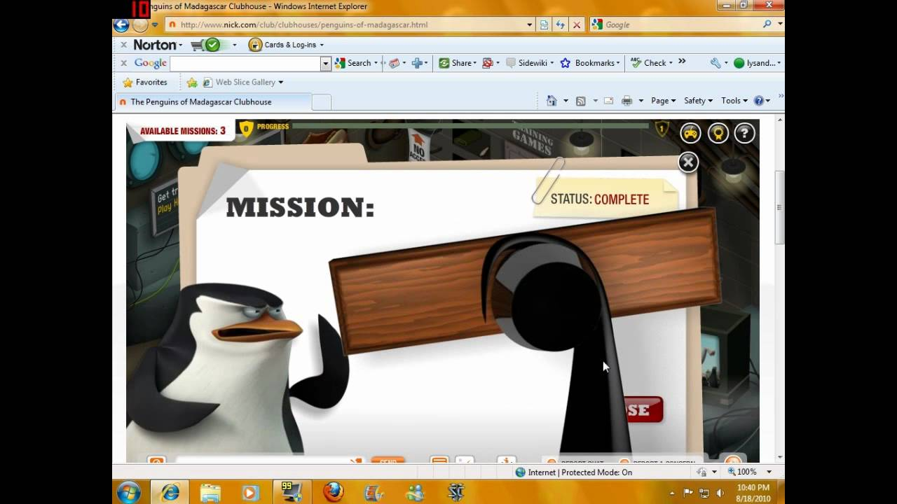 Nickcom Game The Penguins of Madagascar Clubhouse YouTube