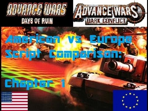 Advance Wars Days Of Ruin/Dark Conflict US/EU Script Comparison: Chapter 1