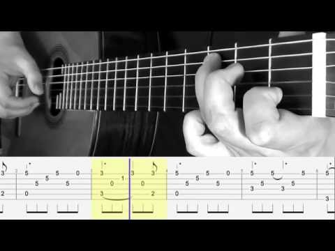 TUTO Fingerstyle Guitar - HALLELUJAH - tablature & score