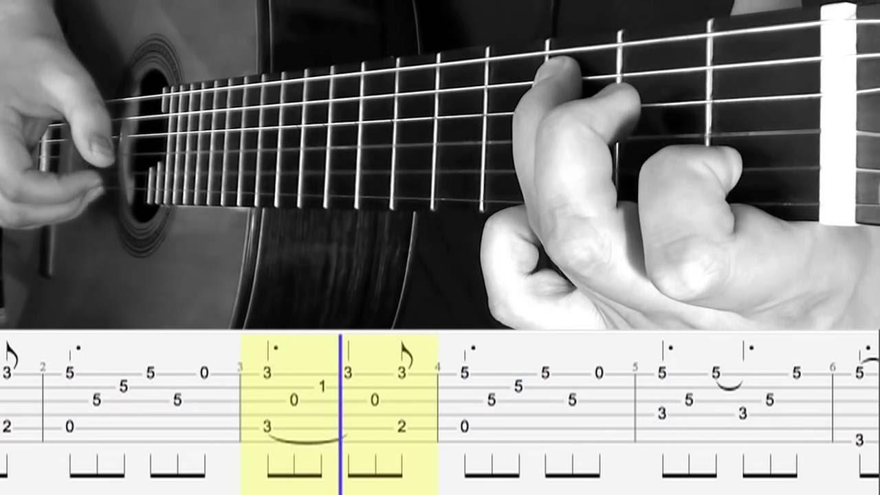 Relativ TUTO Fingerstyle Guitar - HALLELUJAH - tablature & score - YouTube YC05