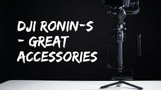 DJI Ronin-S accessories together with the Blackmagic Pocket Cinema Camera 4k