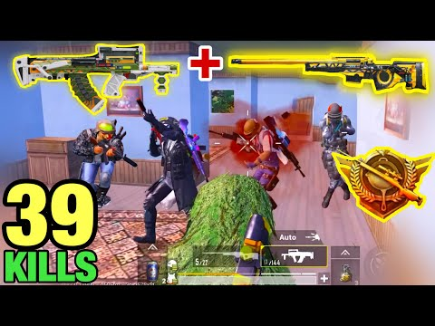 BEST GAMEPLAY with GROZA + AWM | CROWN 1 Tier SOLO vs SQUAD |  PUBG MOBILE