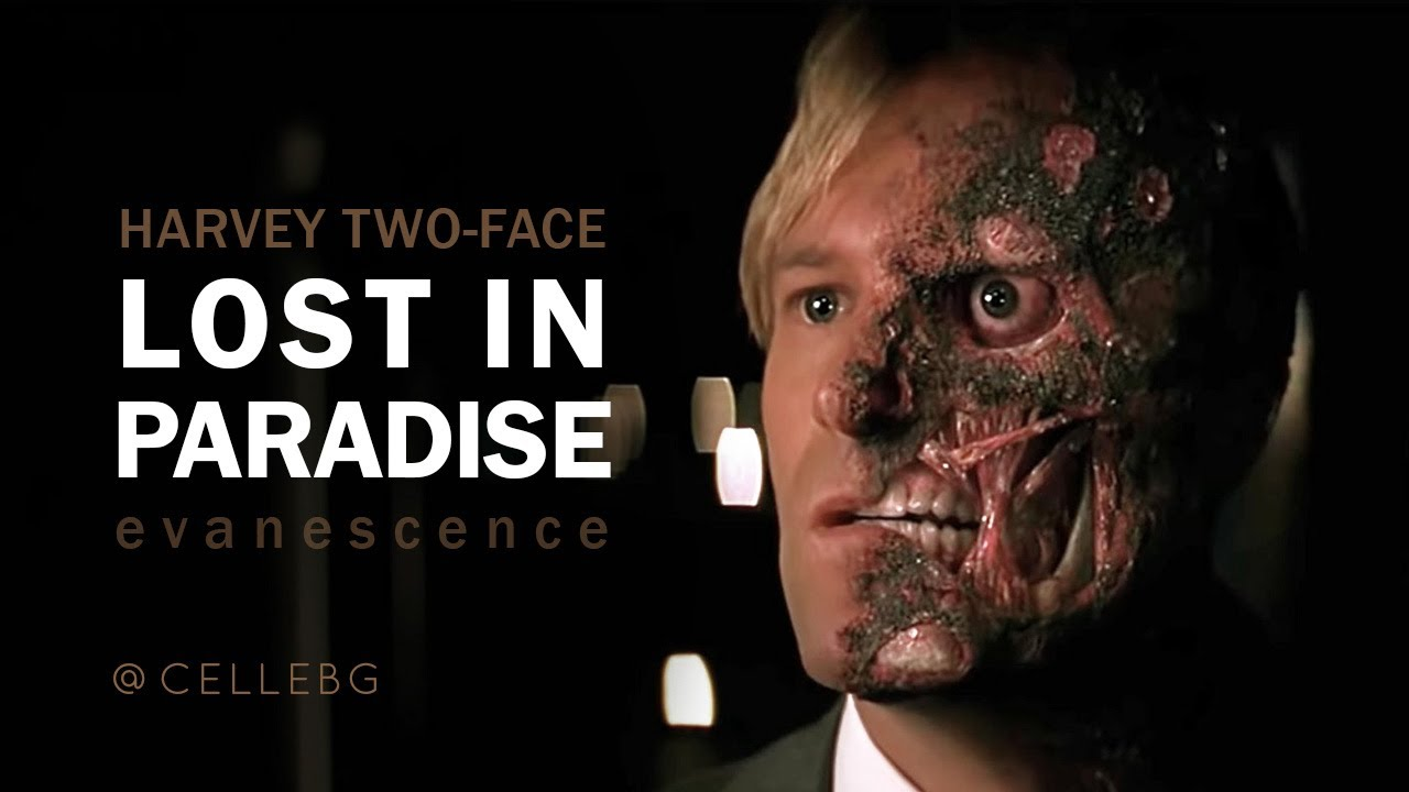 TWO-FACE Lost in Paradise - Evanescence | The Dark Knight Harvey Dent tribute - sad video