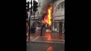 Shop catch fire in Walsall