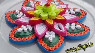 Paper Quilling : How to make  Colorfull Rangoli flowers / Mandala designs