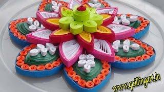 Paper Quilling : How to make  Colorfull Rangoli flowers / Mandala designs