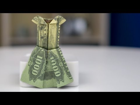 Money Origami Tutorial - Fold A Dress With Dollar Bill