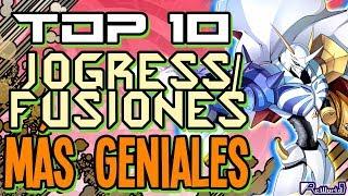 TOP 10 Jogress/Fusiones MÁS geniales de Digimon