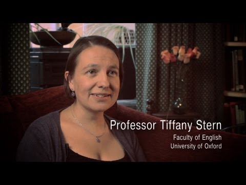 Interview with Tiffany Stern
