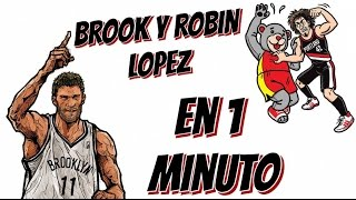 BLOOPERS NBA - ROBIN Y BROOK LÓPEZ EN 1 MINUTO
