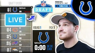 2018 NFL DRAFT LIVE | Madden 18 Colts Connected Franchise Ep. 18