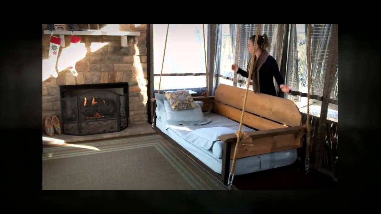 Adjustable Porch Furniture By The Porch Company   Swing Bed U0026 Porch Swing    YouTube