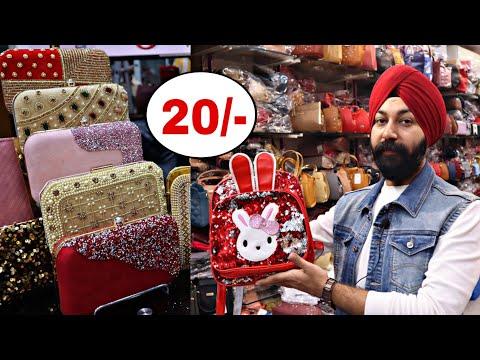 Imported & Indian purse   Ladies Purse and Bags Wholesale Market   Nabi Karim Sadar Bazar Delhi