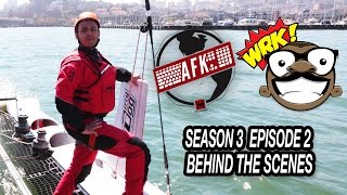 AFK Behind The Scenes Ep. 2 Catamaran Racing, EA Offices! Giants Baseball Game!