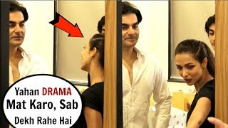 Malaika Arora & Arbaaz Khan CAUGHT Arguing In Front Of Media At Gym Launch