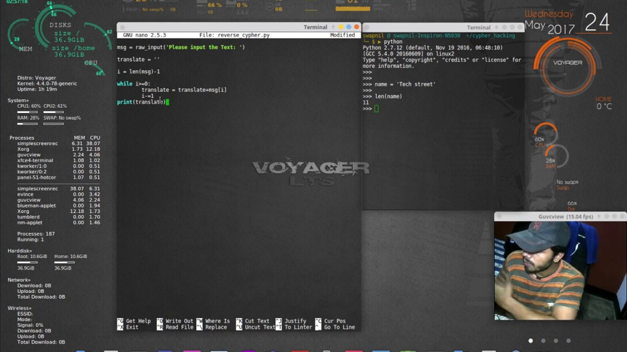 Hacking Encryption ciphers with python codes Reverse Cypher code part 3