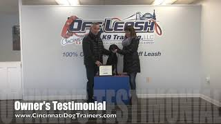 4 Yr Old Lab Mix Mica's Owner's Testimonial at Cincinnati Dog Trainers Off Leash K9