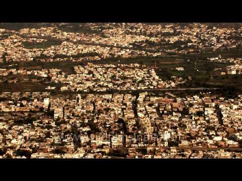 Ajmer: aerial view of city