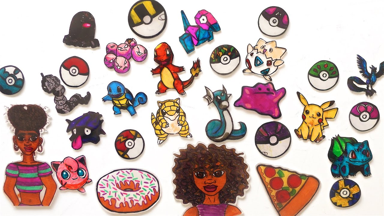 Diy Shrinky Dink Art Keychains