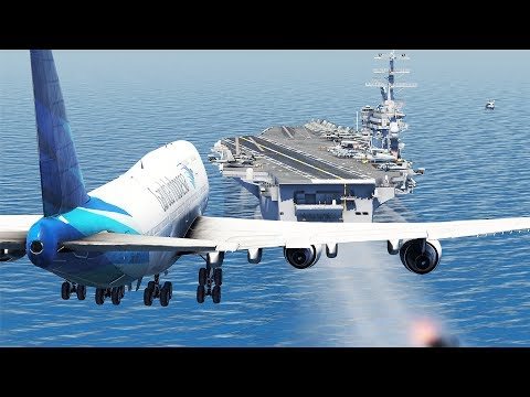 Boeing 747 Aircraft Carrier Emergency Landing | X-Plane 11