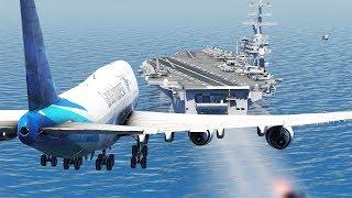 Boeing 747 Aircraft Carrier Emergency Landing | X-Plane 11