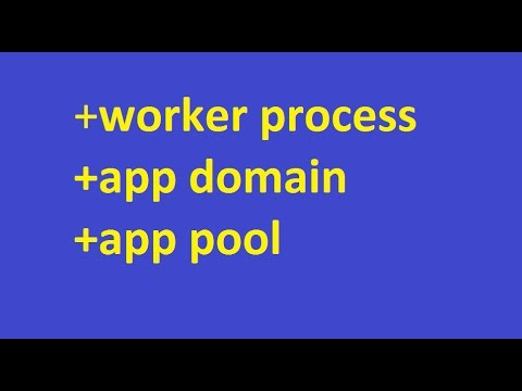 What exactly is an worker process, app domain and app pool?