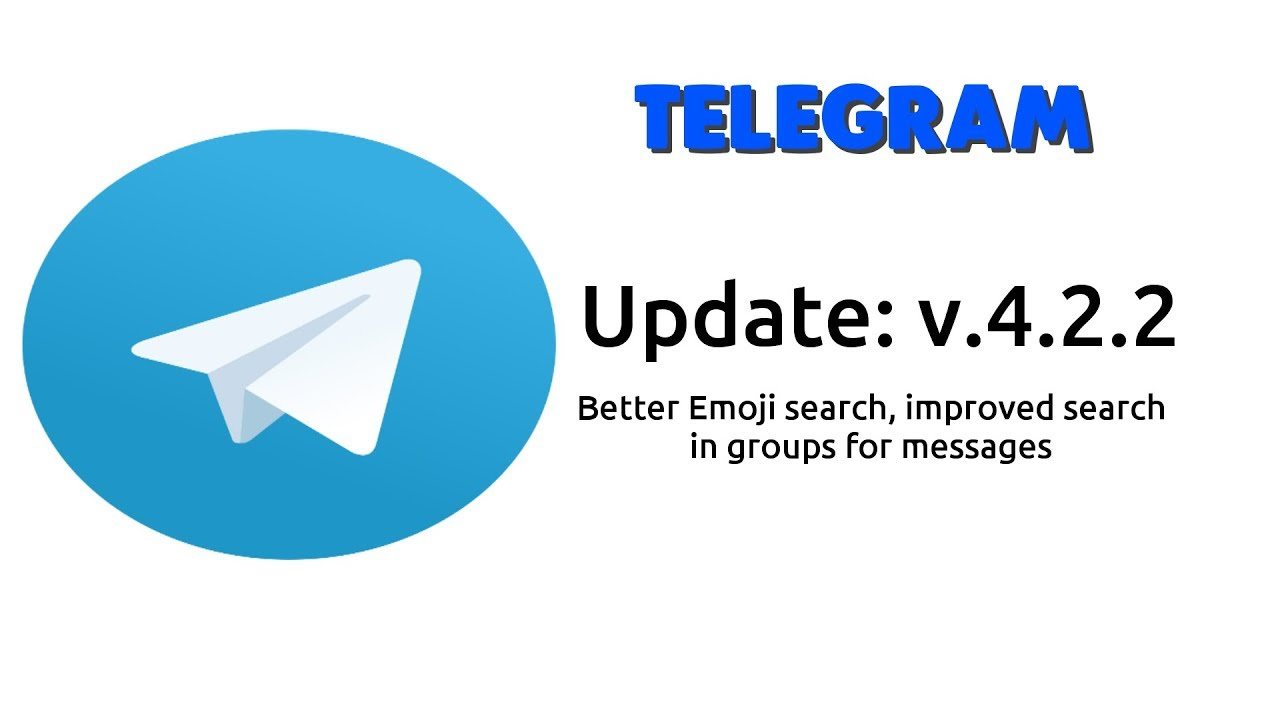 Telegram Update 4 2 2 - better Emoji search and search for messages in  groups