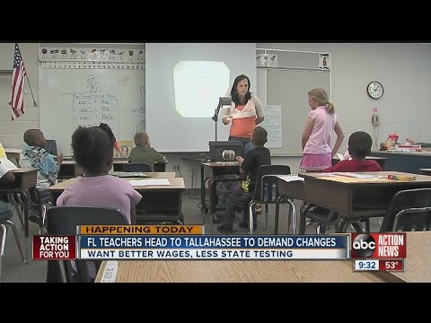 Teachers head to Tallahassee for 'Enough is Enough' rally