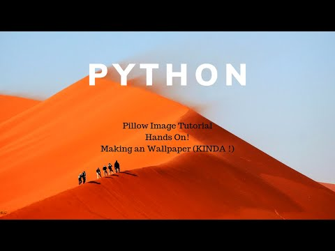 Python Tutorial | Making a Python App  Tutorial by PIL / Pillow Image to draw pictures! thumbnail