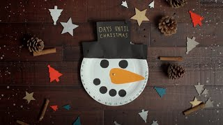 Click here to play the How to create a paper plate snowman video