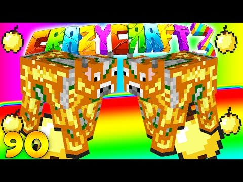 Minecraft CRAZY CRAFT 3.0 -Enchanted Golden Apple Cow Farm #90