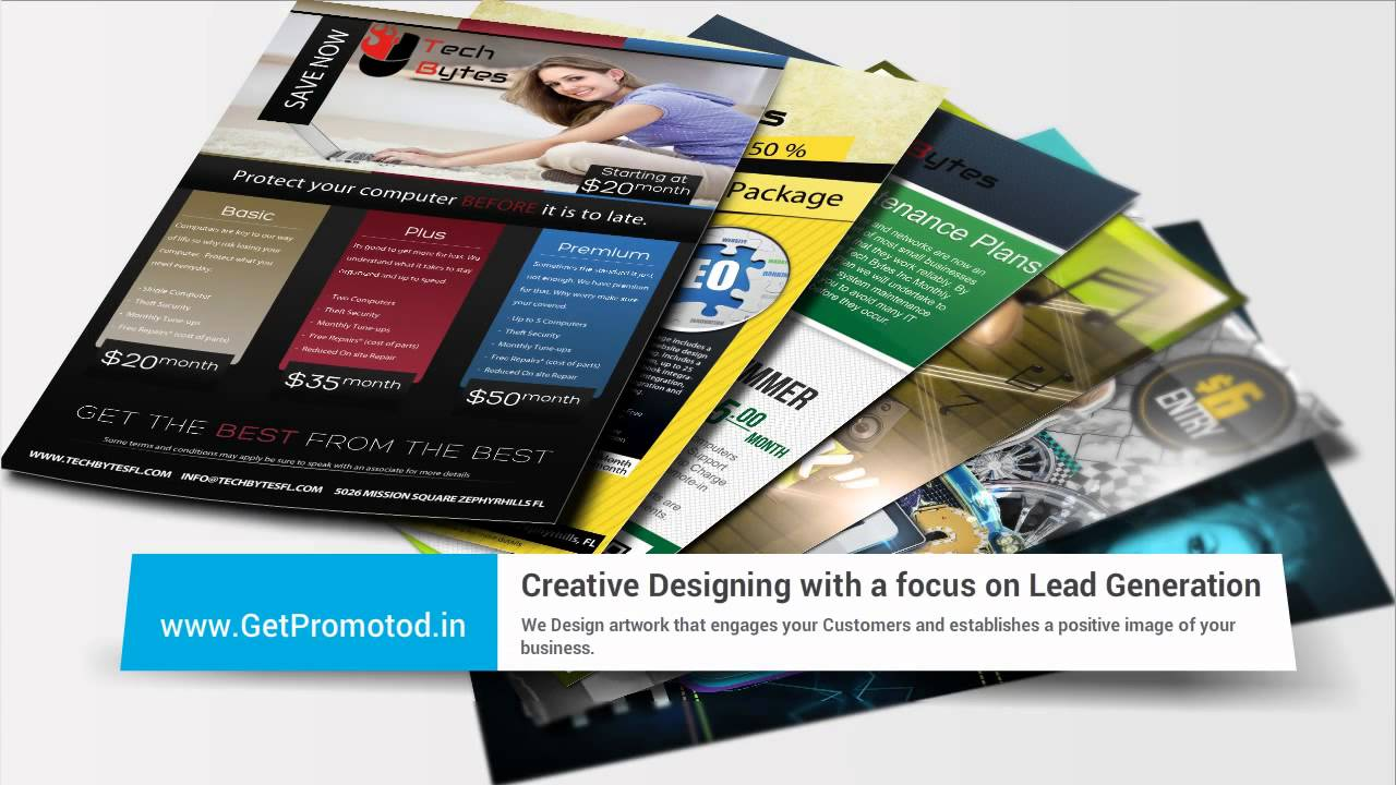 Creative Brochure Designer Gurgaon GetPromoted, Advertising Agency ...