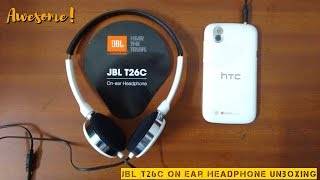 JBL T26C On Ear Headphone Unboxing & Review