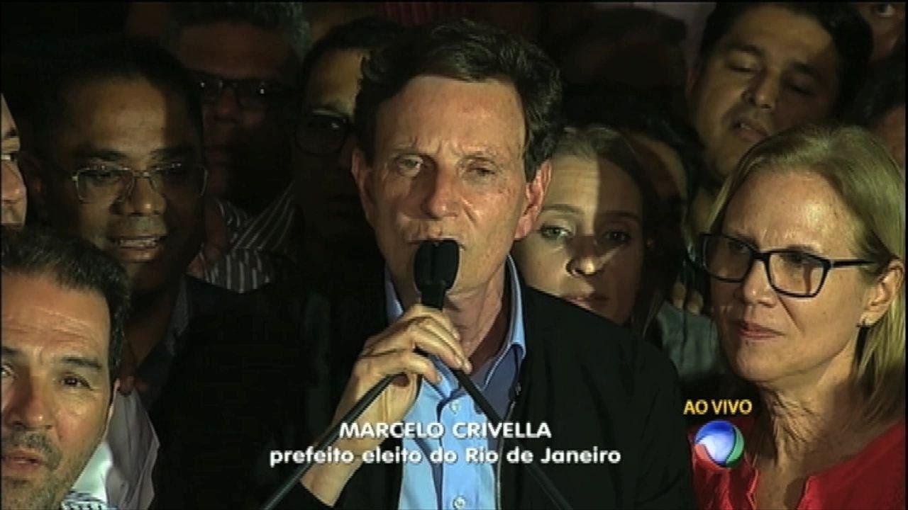 e2da73a73b Marcelo Crivella (PRB) faz discurso após ser eleito prefeito do Rio de  Janeiro - YouTube